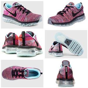 Nike Women's Flyknit Pink Black Running Sneakers